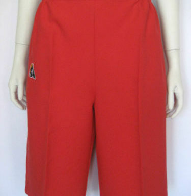 Domino Red Pants, Peddle Pushers and Shorts LESS THAN HALF PRICE